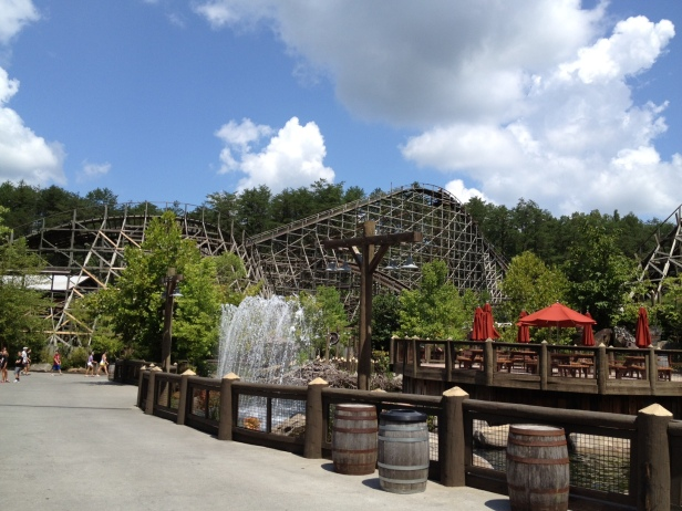 Thunderhead, a classic wooden roller coaster: clangy, clacky, whiplash inducing, nostalgic thrill ride