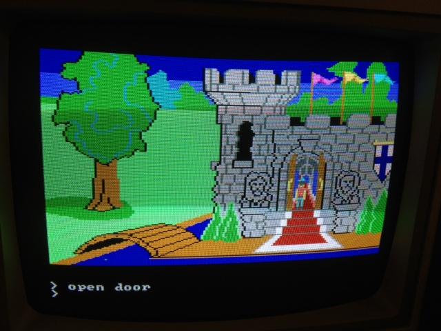 IBM PC Jr, King's Quest, vintage video game