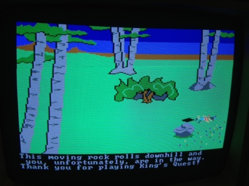IBM PC Jr, King's Quest, vintage video gaming