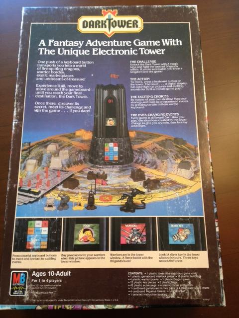 Dark Tower, vintage gaming, entertainment, 80's board games