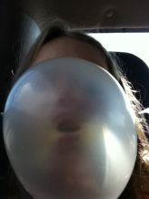 Bubble blowing contest