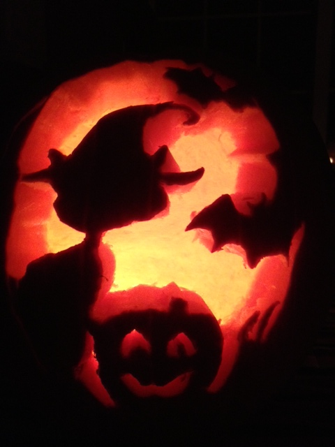 Halloween, pumpkins, jack-o-lantern, black cat