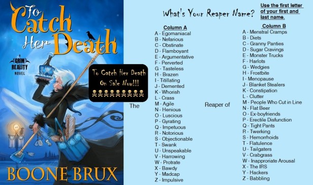Boone Brux Whats Your Reaper Name Quiz