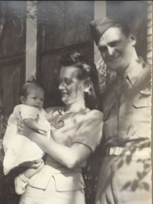 My grandparents and mother 1944