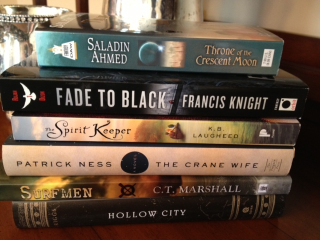 fantasy, fiction, folk tale, young adult, Throne of the Crescent Moon, Saladin Ahmed, Fade to Black, Francis Knight, The Spirit Keeper, The Crane Wife, Hollow City, Ransom Riggs