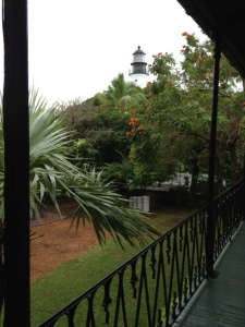 The Key West Lighthouse, which can be seen from the balcony outside of Hemingway's bedroom