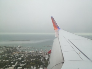 Flying into Key West... This wing's a bit bigger than the one I'm used to seeing out my window ;-)