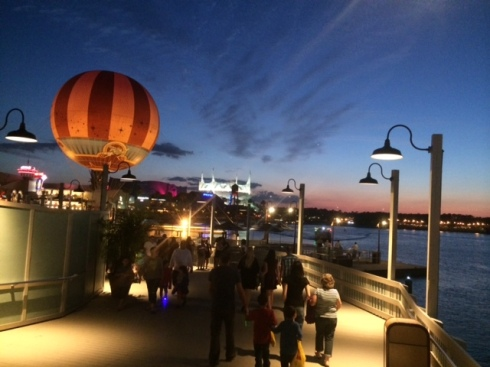 Where's Wally/Waldo/Archer? Here's me, strolling along Downtown Disney's boardwalk