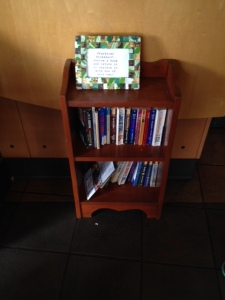 Bookshelf at my local Starbuck's -- what's missing? ;-)