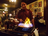 After moaning about fact that I couldn't find any restaurants that would prepare Bananas Foster tableside, Craig found one for me: Les Halles