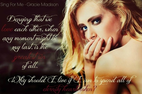 Sing for Me, Gracie Madison, paranormal romance, new adult, magic, angels, demons, magic, emotion