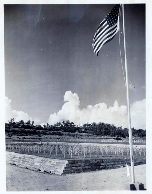 Island Command Cemetery  Southern Okinawa 1945