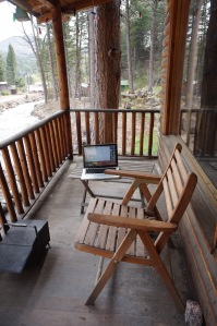 Laurel Wantow cabin porch
