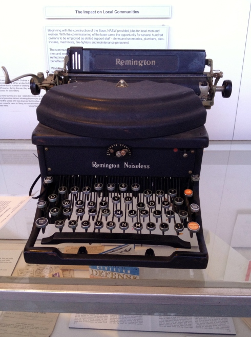 Took this at the NASW Aviation Museum in Cape May, NJ. They have all sorts of vintage 1940s stuff. I suppose, one day, my laptop will look just as dated.