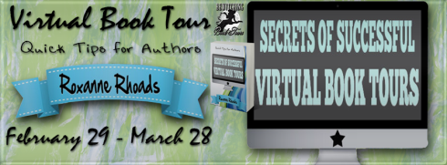 Roxanne Rhoads Secrets of Successful Virtual Book Tours Banner