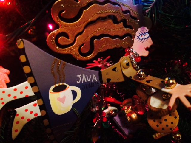 Java Junkie, coffee lover, Christmas tree ornament